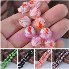 Bulk 10pcs Faceted Loose Spacer Lampwork Glass Beads Lot Styles Jewelry Making