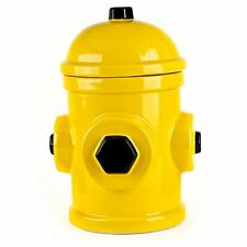 American Kennel Dog Treat Biscuit Cookie Jar Fire Hydrant Ceramic