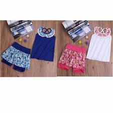 2pcs baby Girl clothes tops Dress Panty Set Outfits with Culottes summer clothes