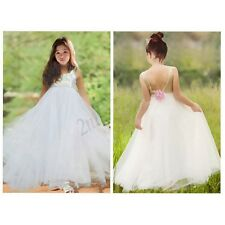 Sequined Flower Girl Christening Wedding Party Bridesmaid Princess Tulle Dress