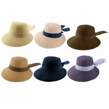 Ladies Women Straw Bowknot Design Traveling Floppy Wide Brim Sun Cap Beach Hat