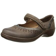 Aravon by New Balance Womens Dolly Leather Mary Janes Taupe 8 Medium (B,M)