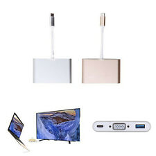 2016 MacBook USB 3.1 Type C to OTG & USB-C VGA & USB Female Charger HUB Adapter