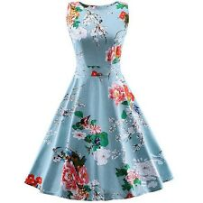 Women 1950s 60s Floral Style Rockabilly Cocktail Party-Swing Dresses Size 10-16