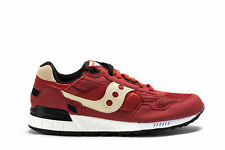SAUCONY Mens Sneakers SHADOW 5000 Red Fabric Beige Trainers Shoes S70033-78