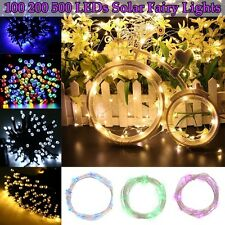 100/200/500 LED Solar/Battery Power Light Outdoor Fairy String Party Xmas Lights