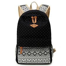 Fashion Backpack Rucksack Womens Canvas Shoulder School Bag Campus Athleisure