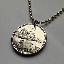 Macau 1 Pataca coin pendant necklace jewelry Chinese Macao Guia Lighthouse