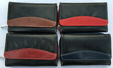 BNWT Ladies Girls Fabretti Soft Leather Large Purse Credit Card Holder Wallet