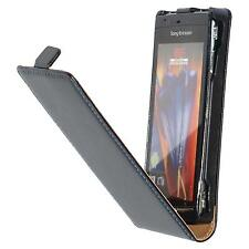 Artificial Leather Case for Sony Xperia Arc S - Flip-Case  + protective foils