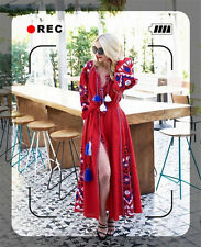 NEW Women Embroidered Vyshyvanka Folk Ethnic Style Boho Skirt Fashion Maxi Dress