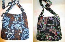VERA BRADLEY Hipster Cross Body Crossbody Purse Kiev Paisley Java Floral