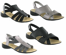 Ever So Soft Pewter Black Fashion Summer Sandals Shoes Womens UK3-8