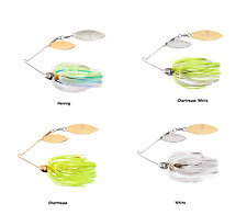 Booyah Tandem Double Willow Viber Wire Spinnerbait - Assorted Sizes and Colors