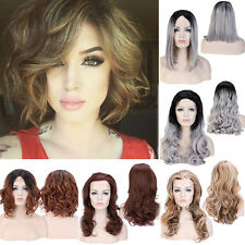 New Fashion Women Full Wig Lace Front Long Straight Curly Wavy Wigs Adjustable #