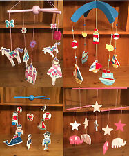 Gisela Graham Wooden Boy Girl Mobiles Baby Nursery Hanging Mobile Decoration