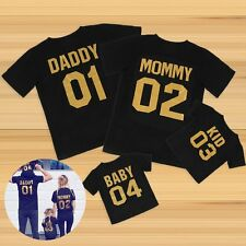 Love Family Matching Clothes DADDY MOMMY KID BABY Outfits Sets T-shirt Blouse