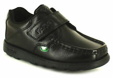 New Boys/Childrens Black Kickers Fragma3 Touch Fastening School Shoes. UK SIZES