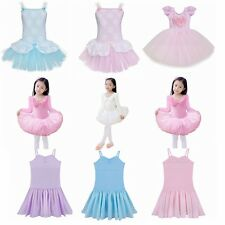 Kids Leotard Gymnastics Ballet Dress Girls Tutu Dance Skirt Party Dress Costume