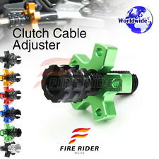 FRW 6Color CNC Clutch Cable Adjuster For Kawasaki Z1000 ZR1000 09-13 10 11 12 13