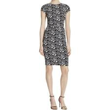 Aqua 8914 Womens Cap Sleeves Knee-Length Printed Casual Dress BHFO