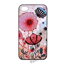 Lotus Floral Pattern Design Hard Back Case Cover Skin for Apple iPhone 4 4S 5 5S