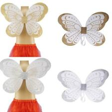 Fairy Princess Girls Costume Fairy Wings Butterfly Party Costume Silver/Gold