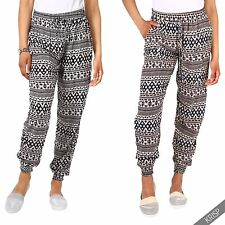 Womens Stretch High Waisted Hippie Baggy Summer Festival Harem Trousers Pants