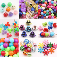 Wholesale 20/50/100Pcs Charms Acrylic Loose Spacer Beads Jewellery Making DIY