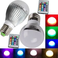 E26 E27 3W 5W 10W RGB LED Magic Light 16Color Change Bulb IR Controller Lamp HOT
