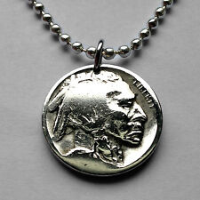USA 5 cent buffalo Indian Head nickel coin pendant Native American bison n000563