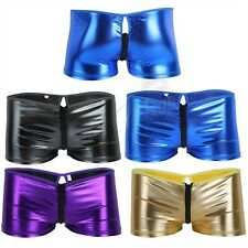 Mens Leather Underwear Boxer Briefs Shorts Lingerie Thongs Josckstrap Underpants