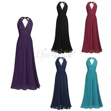 Women Ladies Sleeveless Bodycon Evening Party Cocktail Bridesmaid Long Dress
