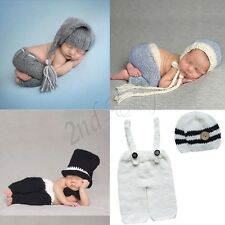 Newborn Baby Girl Boy Crochet Knit Costume Photography Photo Prop Outfits Infant