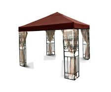 New 10'x10 Gazebo Canopy Top Cover Replacement Outdoor Garden Patio Nutmeg Brown