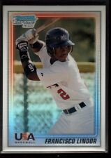 FRANCISCO LINDOR /500 $80+ USA ROOKIE REFRACTOR INDIANS RC SP 2010 BOWMAN CHROME