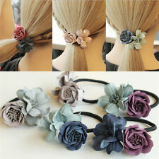 Delicate Hairband Handmade Ponytail Holder Elastic Rope Ring Flowers Hair Ring