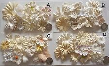 SCRAPBOOKING NO 429 - 18 PRIMA PAPER FLOWERS - 4 DIFFERENT PACKS AVAILABLE