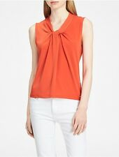 calvin klein womens knot neck sleeveless top