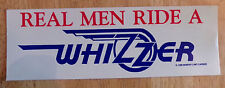 Vintage Whizzer Motor Bike Decal, Real Men Ride A Whizzer, 1988, NOS