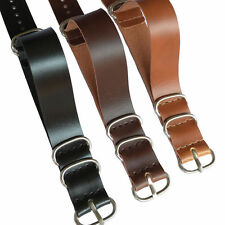 New Black Brown 18mm 20mm 22mm Ring Buckle PU Leather Watch Strap Band Watchband