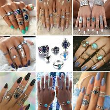 Charm Boho Vintage Silver/Gold Midi Above Knuckle Finger Rings Set Jewelry Gifts
