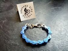 Blue Bicycle Chain Bracelet Cyclist Present Idea! Bike Road MTB DH XT Xmas Gift