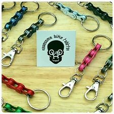 Bicycle Chain Keychain Keyring Gift for Cyclist Bicycle Rider MTB DH ROAD Xmas