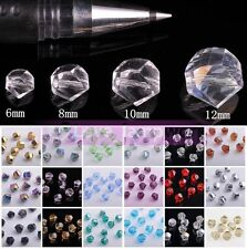 6~12mm 30pcs Exquisite Twist Helix Faceted Crystal Glass Loose Spacer Beads Lot