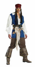 Captain Jack Sparrow Pirates Of The Carribean Quality Teen Adult Mens Costume