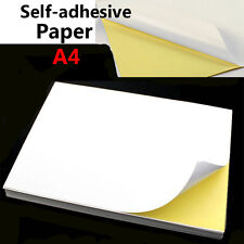 21x29cm A4 Glossy Self-adhesive Paper Sheet Inkjet Laser Sticker Label Print Lot