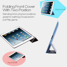 PU Leather Smart Stand Cover For Apple iPad 4 3 2 Mini Air  2 3 Hard Back Case