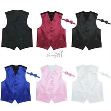 Men Sleeveless Dress Vest with Bowtie Set for Suit or Tuxedo Party Wedding