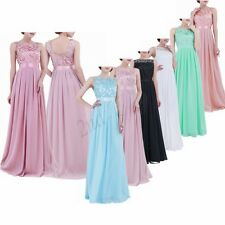 Womens Long Chiffon Evening Formal Party Ball Gown Prom Brides Dress Cocktail